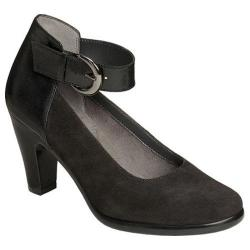 Women's Aerosoles Impressive Ankle Strap Pump Black Suede