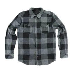 Men's O'Neill Superfleece Glacier Check Flannel Shirt Grey