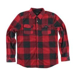 Men's O'Neill Superfleece Glacier Check Flannel Shirt Red