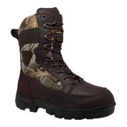 Men's AdTec 1600 11in Waterproof Realtree 400G Camo Boot Dark Brown Leather/Realtree