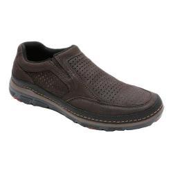 Men's Rockport Activflex Sport Perf Slip On Dark Brown Leather