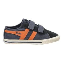 Children's Gola Quiff Adjustable Strap Canvas Sneaker Navy/Orange