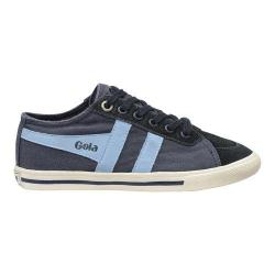 Children's Gola Quota Canvas Lace Up Sneaker Navy/Powder Blue
