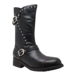 Women's Ride Tecs 8540 12in Studded Engineer Boot Black Leather