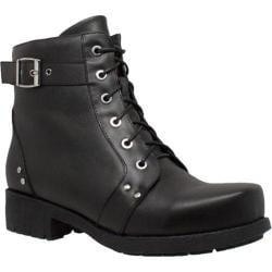 Women's Ride Tecs 8647 Biker Boot Black Leather
