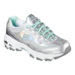 Women's Skechers D'Lites Sneaker No Boundaries/Silver/Mint