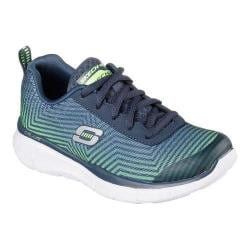 Boys' Skechers Equalizer Game Day Sneaker Navy/Lime