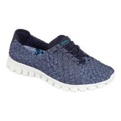 Women's Skechers EZ Flex 2 Pedestal Woven Slip On Navy