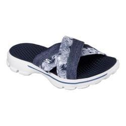 Women's Skechers GOwalk 3 Fiji Slide Sandal Navy/White