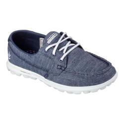 Women's Skechers On the GO Mist Boat Shoe Navy/White