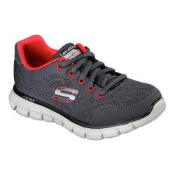 Boys' Skechers Synergy Fine Tune Sneaker Charcoal/Red