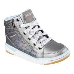 Girls' Skechers Trendies High Top Gunmetal/Light Blue