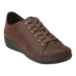 Women's Clarks Sillian Glory Walking Shoe Brown Synthetic