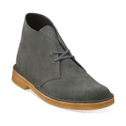 Men's Clarks Desert Boot Dark Grey Suede