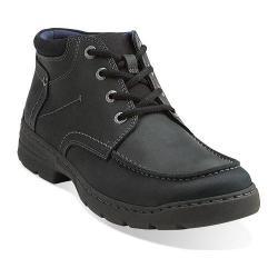 Men's Clarks Newbern Up Black Leather