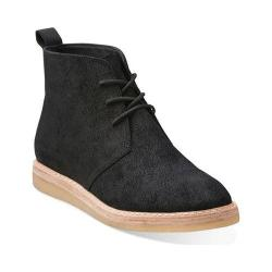Women's Clarks Empress Moon Black Suede