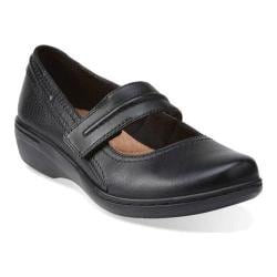 Women's Clarks Evianna Cozy Mary Jane Black Leather