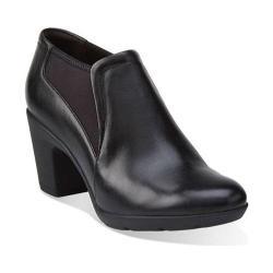 Women's Clarks Lucette Diva Bootie Black Leather