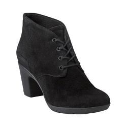 Women's Clarks Lucette Drama Ankle Boot Black Suede