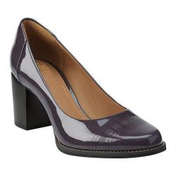 Women's Clarks Tarah Sofia Purple Grey Patent Leather