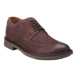 Men's Clarks Wahlton Wing Tip Oxford Chestnut Leather