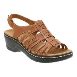 Women's Clarks Lexi Fiddle Sandal Tan Leather