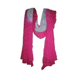 OmSutra Tie Dye Chakra Silk Scarves Grey