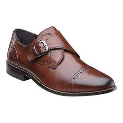 Men's Nunn Bush Newton Cap-Toe Monk Strap Brown Leather