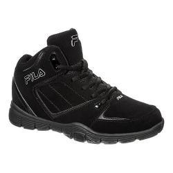 Men's Fila Shake N Bake 3 Basketball Shoe Black/Black/Metallic Silver