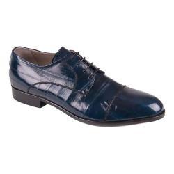 Men's Giovanni Marquez 1115 Anguillo Eel Cap Toe Blucher Blue Leather