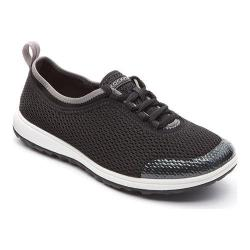 Women's Rockport Walk360 Washable Laceup Black Mesh