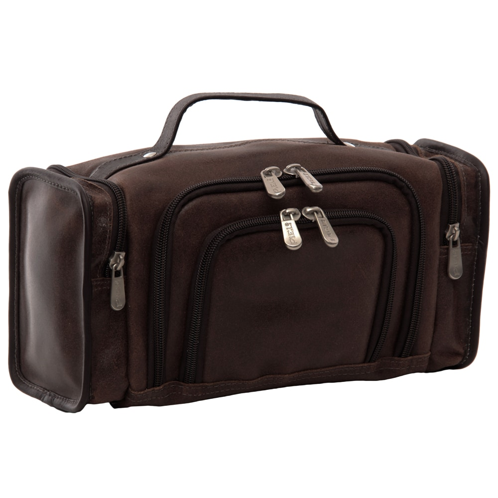 Piel Leather Multi-Compartment Toiletry Kit