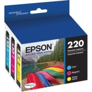 Epson DURABrite Ultra Ink T220 Ink Cartridge - Cyan, Yellow, Magenta