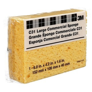 Scotch-Brite Industrial Commercial Cellulose Sponge/ Yellow/ 4-1/4 x 6