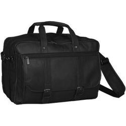 Men's David King Leather 100 Expandable Laptop Briefcase Black 14326401