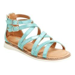 Girls' Hanna Andersson Vera II Gladiator Sandal Green Glass PU Leather