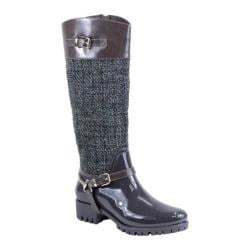 Women's Reneeze Rain-03 Glossy Woven Rain Boot Gray PU