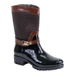 Women's Reneeze Rain-01 Glossy Mid-Calf Rain Boot Brown PU