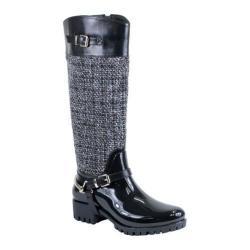 Women's Reneeze Rain-03 Glossy Woven Rain Boot Black PU