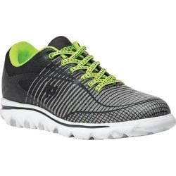 Women's Propet Billie Bungee Lace Walking Shoe Grey/Lime Mesh
