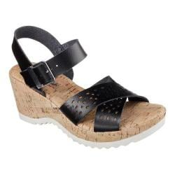 Women's Skechers Bohemias Urban Pixie Wedge Sandal Black