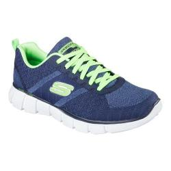 Men's Skechers Equalizer 2.0 True Balance Training Shoe Navy/Lime