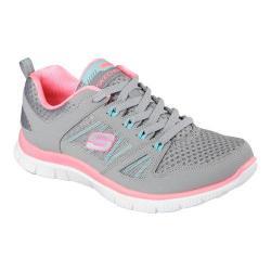 Women's Skechers Flex Appeal Adaptable Gray/Neon Pink