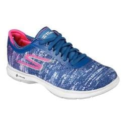 Women's Skechers GO STEP One Off Lace Up Blue/Pink