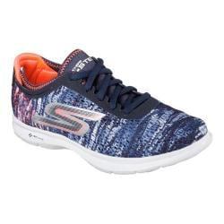 Women's Skechers GO STEP One Off Lace Up Navy/Coral