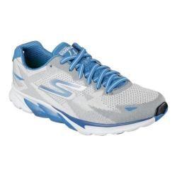 Men's Skechers GOrun 4 2016 Lace Up White/Blue