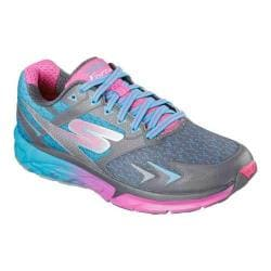 Women's Skechers GOrun Forza Lace Up Charcoal/Blue