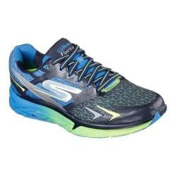 Men's Skechers GOrun Forza Lace Up Navy/Lime