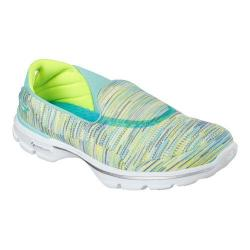Women's Skechers GOwalk 3 Crazed Slip On Mint