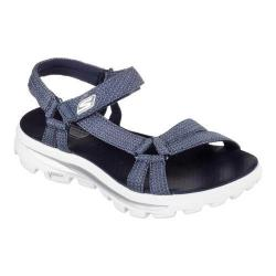Women's Skechers GOwalk Move River Walk Sandal Navy/White